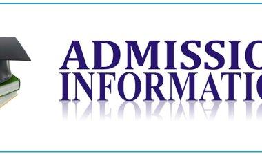 Admission Schedule 2020